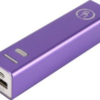 Yubi Power YP250AP 2500mAh Ultra Compact Lipstick Size Portable Power Bank Backup External Battery Charger - [Stylish and Tiny 3.70 x 0.86 x 0.86 inch Dimensions] (Purple)