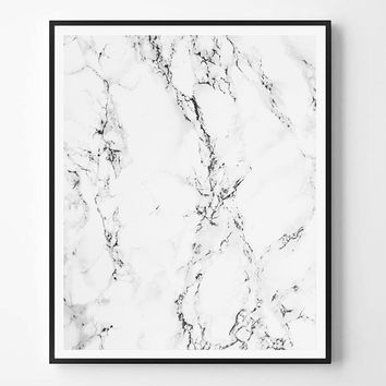 Marble Print, Modern Minimalist Print, Black and White abstract, Printable wall art, Instant Download, Minimal Print, Scandinavian print