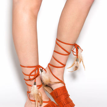 Wind Song Faux Suede Sandals