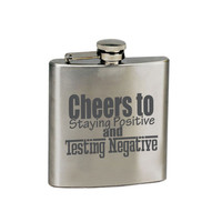 Funny Gift, Funny saying, quote, flask, whiskey, toast, groomsman gift, gifts for him, bachelor party, man cave, by VitalSignandApparel