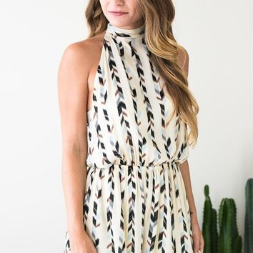 New Flame Open Back Romper