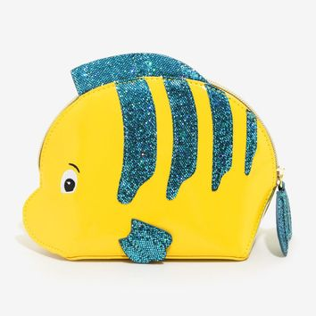 Licensed cool Disney The Little Mermaid Flounder Cosmetic Make-Up Bag License Danielle Nicole
