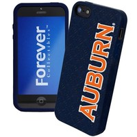 Auburn Tigers Silicone iPhone 5 Cover - Navy Blue
