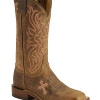 Tony Lama Cross Inlay Cowgirl Boots - Square Toe - Sheplers
