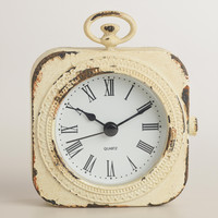 White Metal Lexi Pocket Watch Clock - World Market