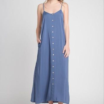 Button Up Maxi With Slits
