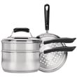 Range Kleen Basics 3-quart Saucepan With Double Boiler And Steamer Insert Set