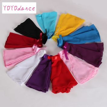 Retail New 15 colors available Children Kids Girl Chiffon Ballet Tutu Dance Costume Skirt Skate Wrap Scarf 5165
