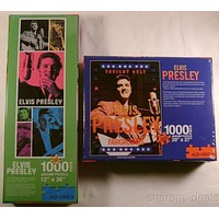 Elvis Presley Jigsaw Puzzles Set of 2 1000 Pc 20x27 12x36 Aquarius Tonight Only