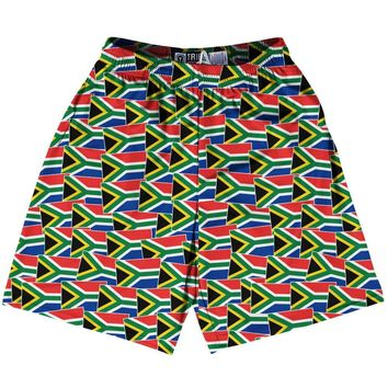 Tribe South Africa Party Flags Lacrosse Shorts