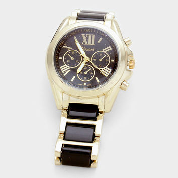 Block Roman Numeral Band Watch