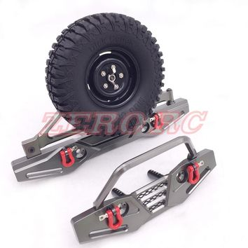 AXIAL SCX10 Poison Spyder Front And Rear Bumpers With Tire Carrier Shackle EP 1/10 RC Jeep Wrangler Crawler