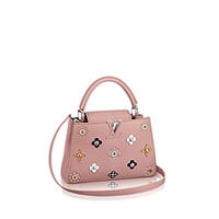 Fashion classic ladies LV pink rivets portable shoulder