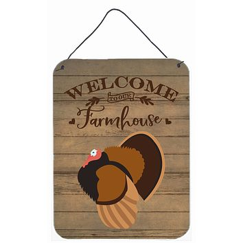 Bronze Turkey Welcome Wall or Door Hanging Prints CK6930DS1216