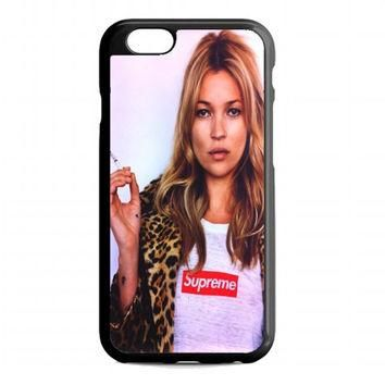 pretty kate moss supreme leopard For iphone 6 case