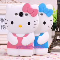 3D hello kitty Cell Phone case cover skin for Samsung I9300 GALAXY S3 SIII