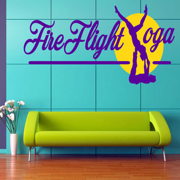Yoga Workout Full Color Decal, Yoga Full color sticker, colored Yoga gc167