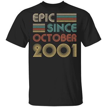 Epic Since October 2001 Vintage 19th Birthday Gifts