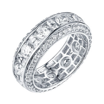 Wedding Ring For Women Sterling Silver White Cubic Zirconia Engagement Band