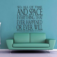 All of Time and Space Doctor Who Wall Decal - Small