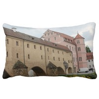 Amberg - Stadtbrille Throw Pillows