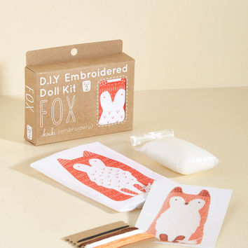Have Me in Stitches Embroidery Kit in Fox | Mod Retro Vintage Toys | ModCloth.com