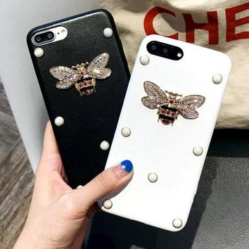 """Gotopfashion Pearl bee iPhone Phone Cover Case For iphone 6 6s 6sp 7 7plus"""""""