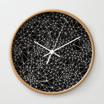 Geo Webbed Wall Clock by DuckyB