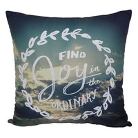 Simple by Design ''Find Joy'' Throw Pillow (Blue)