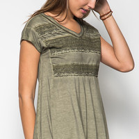 Stuck In A Daydream Top- Olive