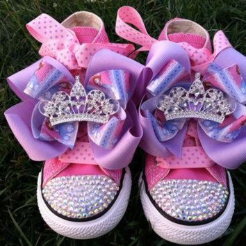 CREYUG7 PRINCESS SOFIA SHOES - Sofia the First - Sofia Party - Costume - Swarovski Crystals
