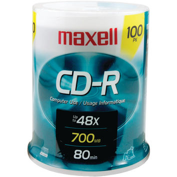 Maxell 700mb 80-minute Cd-rs (100-ct Spindle)