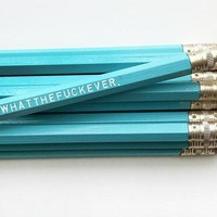 Whatthefuckever Pencil Set in Blue