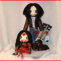 OOAK Hand Stitched Severed Bloody Zombie Doll by TatteredRags