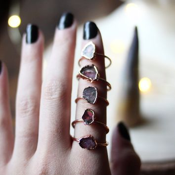 Mystery Watermelon Tourmaline Ring (made to order)