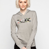 Hurley Tropic Tiger Womens Hoodie Heather Grey  In Sizes