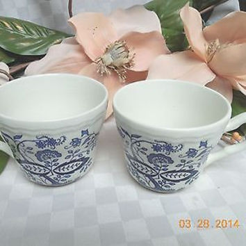 Wedgwood China Dinnerware Enoch Blue Heritage Onion set 2 cup (S)