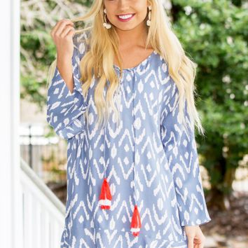 Tenley Tassel Dress in Ikat | Monday Dress Boutique