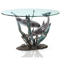 SPI Home Collection - Dolphin Duet Coffee Table