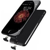 SQDeal Ultra-Slim Smart Backup External Battery Charging Case Power Bank Cover for iPhone 7 Plus (Black)
