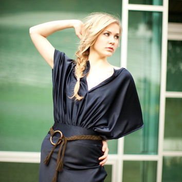 Kay Kimono Dress with Tassel Belt by SaraKimTerrero on Etsy