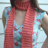 SCARF - KNIT Scarf - Coral Pink - Knitted Long Scarf - Winter Fashion Scarf - Fall Fashion Scarf - Spring Scarf