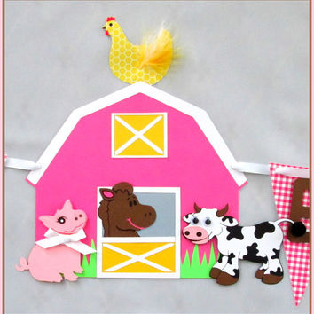 Barnyard/Farm Theme Birthday Banner