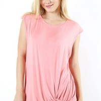 Andi Twist Front Sleeveless Maternity Top