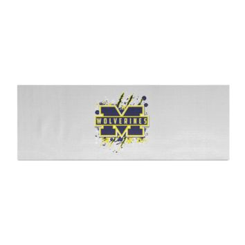 Michigan Wolverines Custom Designed Logo Yoga Mat