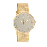 FOREVER 21 Mesh Analog Watch Gold One