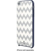 kate spade new york - Hard Shell Case for Apple® iPhone® 6 Plus and 6s Plus - Chevron Glitter Silver/Navy