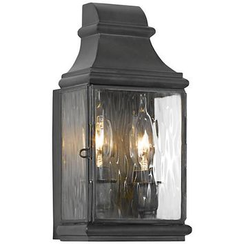 "Jefferson 10 1/2"" High Charcoal Outdoor Wall Light - #3J316 