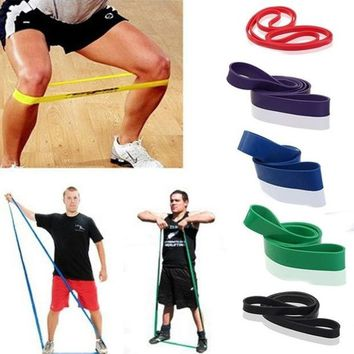 DCCKIX3 New Resistance Bands Weight Training Fitness Exercise Loop Crossfit Strength = 1933307460