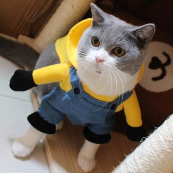 Minion Costume For Cats